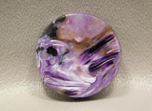 Charoite Cabochon Round Purple Semi Precious Stone #6