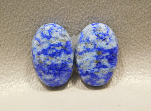 Lapis Lazuli Matched Pair Ovals Blue Loose Stone Cabochons #7