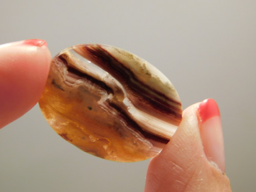 Candy Opal Red Banded Pretty Cabochon Stone #2