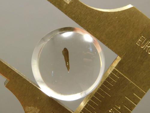 Quartz with Inclusions Cabochon Clear Crystal 15 mm Round Gemstone #Q24