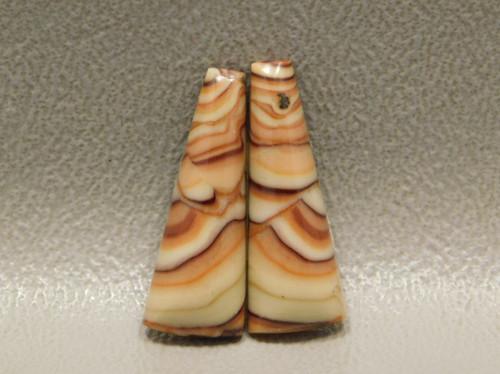 Wave Dolomite Cabochon Matched Pair Semi Precious Stones #6