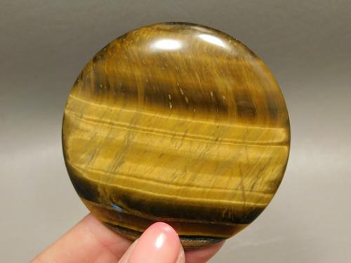 Large Round 58.5 mm Tiger Eye Tigereye Tiger's Eye Cabochon #1