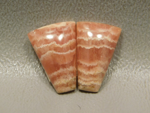 Stone Cabochons Rhodochrosite Small Matched Pairs Pink #22