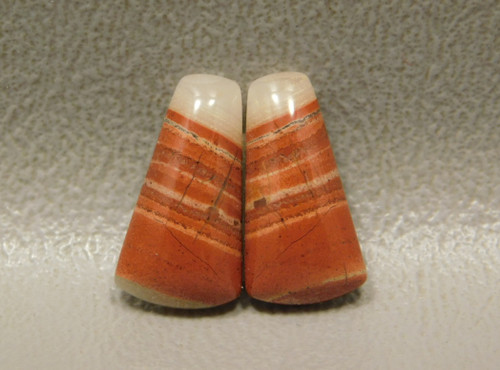 Red Jasper Matched Pairs Small Orange Stone Cabochons #13