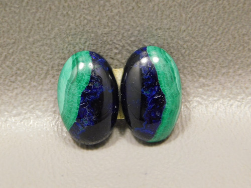 Azurite-Malachite Matched Pair Cabochons Small Ovals #10