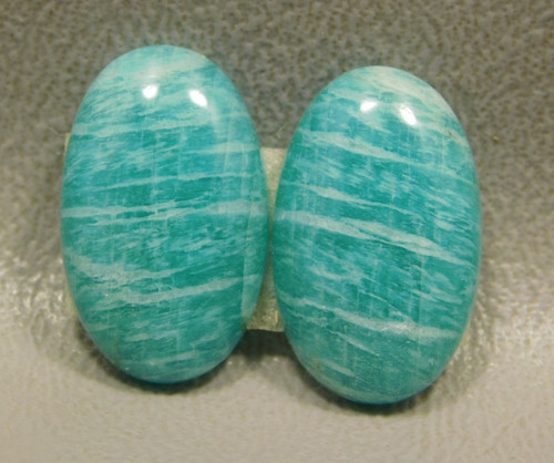Amazonite Matched Pair Cabochons Matched Pair Shimmery Green #5