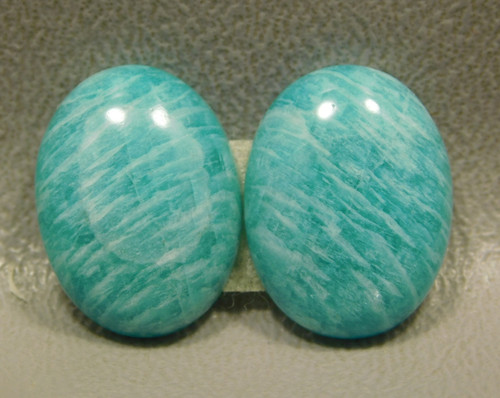 Green Amazonite Matched Pairs Cabochons Jeweler Stones #16