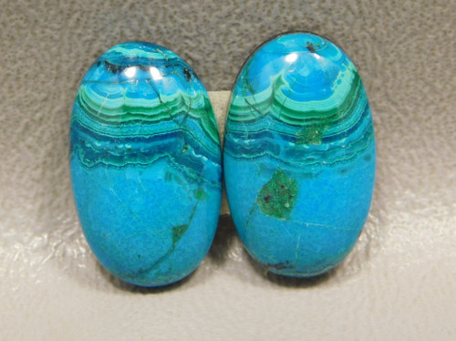 Chrysocolla Malachite Blue and Green Ovals Stones Cabochons #7