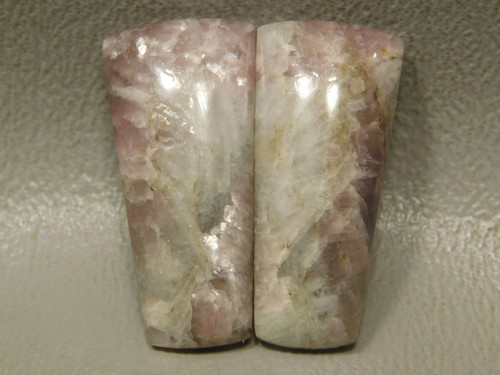 Lavender Lepidolite Cabochons Matched Pair Jewelry Design #9