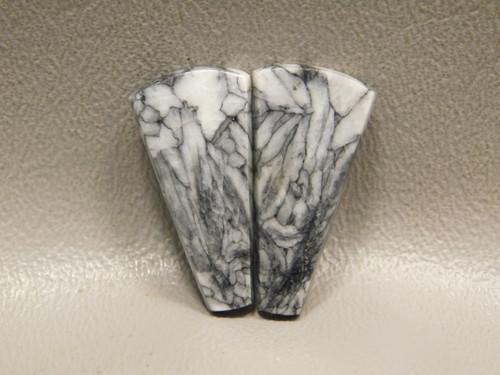 Pinolith Pinolite Trapezoid Matched Pair Stone Cabochons #23