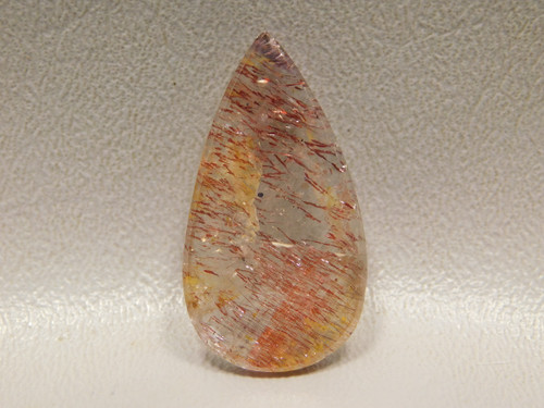 Super Seven Flat Back Red Cacoxenite Quartz Stone Cabochon #25