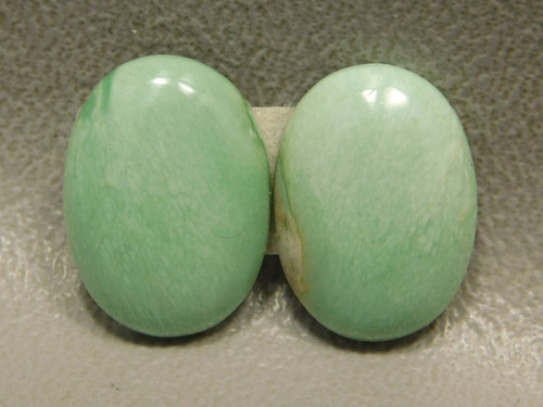 Variscite Matched Pair Pale Green Cabochons for Earrings #6