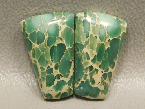 Web Variscite Green Semiprecious Stones for Earrings  #14