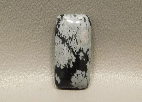 Snowflake Obsidian Cabochon Rectangle Semi Precious Gemstone #23