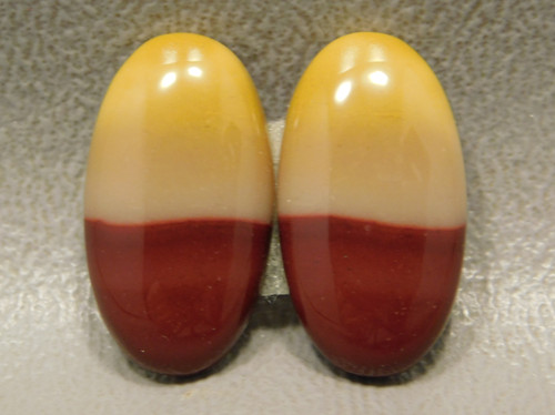 Mookaite Jasper Red Yellow Matched Pair Semiprecious Gemstones #14