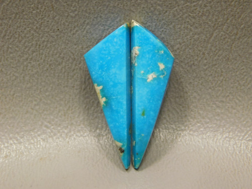 Kingman Turquoise Matched Pair for Earrings Cabochons Triangles #20