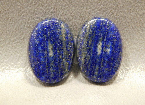 Natural Blue and Gold Lapis Lazuli Matched Pair Stone Cabochons #1