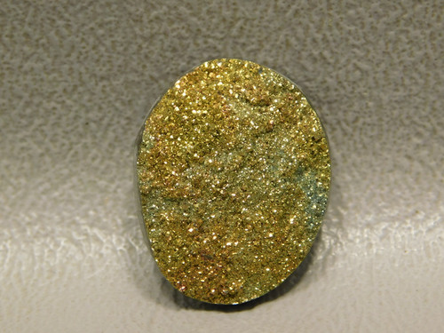 Sparkling Orange Yellow Rainbow Pyrite Stone Cabochon #18