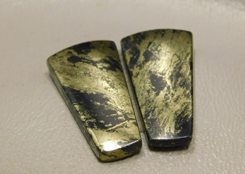 Apache Gold Matched Pair Cabochons Jewelry Stones #3