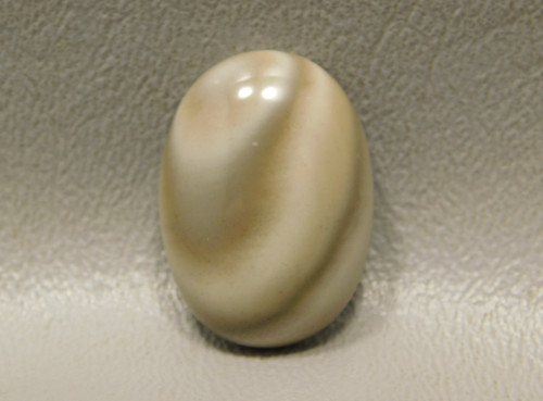 Bargain Cabochon Stone Banded Poland Flint  25 mm by 18 mm Oval #19