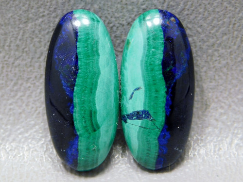 Azurite Malachite Blue Green Matched Pairs Cabochons Ovals #35