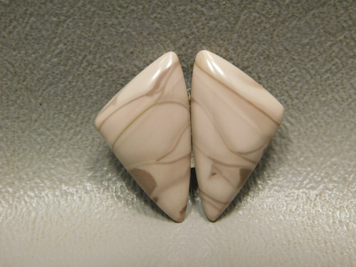 Stones Cabochons Willow Creek Jasper Matched Pair Triangle #23