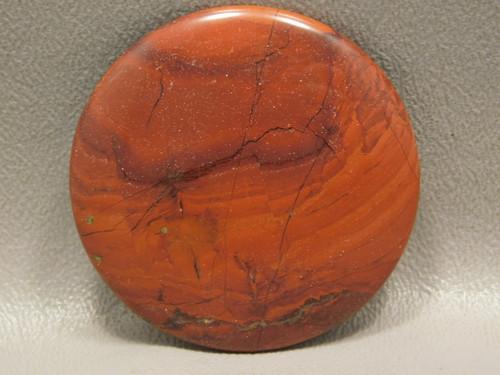 Red Jasper 45 mm Round Cabochon Semi Precious Gemstone #21
