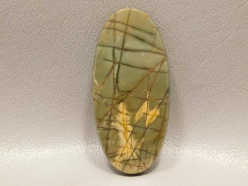 Yellow Green Red Creek Jasper Cabochon Stone Oval #2