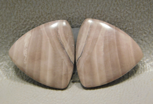 Royal Imperial Jasper Cabochon Stones Matched Pair 17 mm Trillion #3
