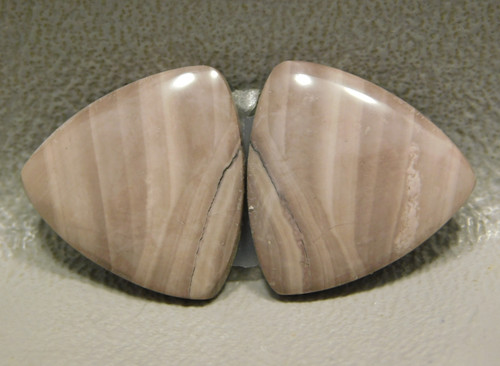 Royal Imperial Jasper Cabochon Stones Matched Pair 17 mm Trillion #3
