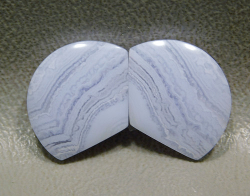 Cabochons Blue Lace Agate Matched Pair for Earrings  #14