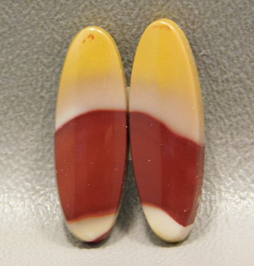 Mookaite Jasper Cabochons Pairs Red Yellow Ovals Stones #2