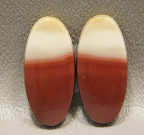 Mookaite Jasper Cabochons Pairs Red Ovals Australia Stones #21
