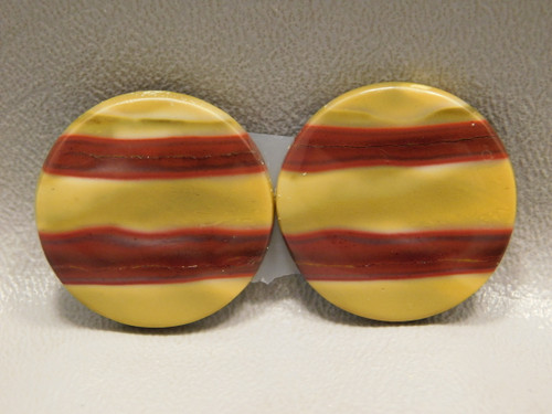 Mookaite Cabochons Mook Jasper Matched Pairs 26 mm Rounds #24