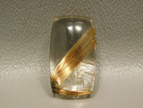 Clear Rutilated Quartz Crystal Gemstone Cabochon #Q1