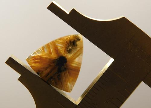 Star Rutile Quartz Rutilated Cabochon Small Triangle Shaped #SRQ4