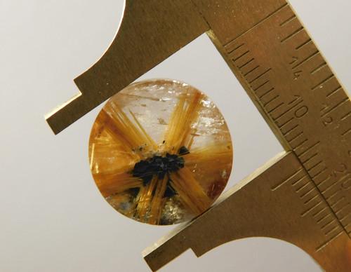 Star Rutile Quartz Rutilated Cabochon 16 mm Round Shaped #SRQ6