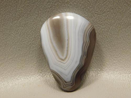 Banded Botswana Agate Natural Gray Loose Stone Cabochon #20