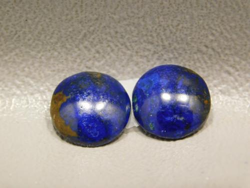 Azurite Malachite Small 11 mm Round Matched Pairs Cabochons #2