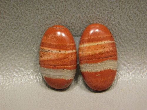 Red Jasper Cabochons Oval Matched Pair Stones #18