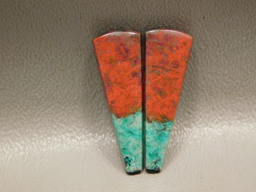 Matched Pair Cabochons Sonora Sunset Chrysocolla Natural Stones #8