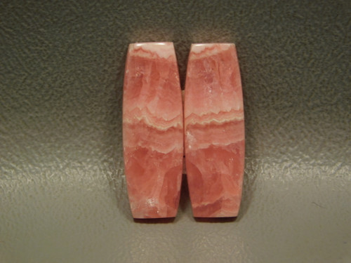 Pink Cabochons Natural Barrels Stones Rhodochrosite Matched Pair #7