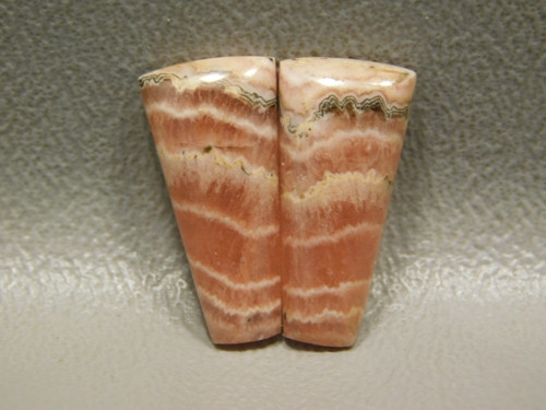 Cabochon Stones Pink Rhodochrosite Matched Pairs  for Jewelry #8