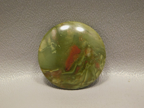 Morrisonite Jasper 31 mm Round Green Loose Stone Cabochon #22