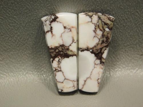 Appaloosa Stone Matched Cabochons Magnesite White Pairs #27