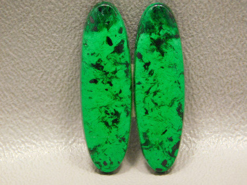 Maw Sit Sit Matched Pair Stone Cabochons Ovals Rare Green #12