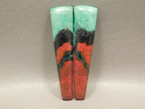 Chrysocolla Cuprite Cabochons Stones Large Matched Pairs #17