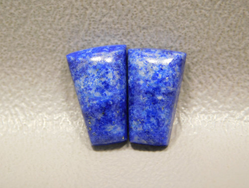 Natural Blue Stone Cabochons Lapis Pyrite Matched Pairs for Jewelry #17