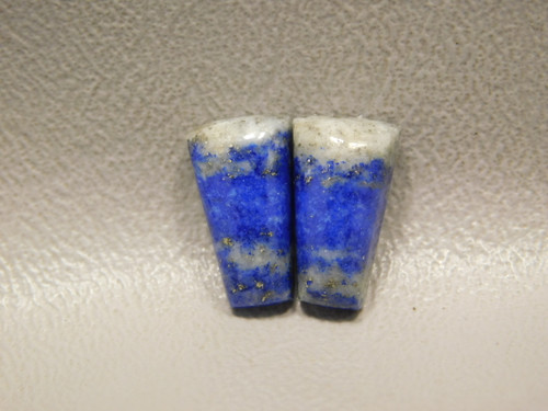 Natural Blue Stone Cabochons Lapis Matched Pairs for Earrings #11