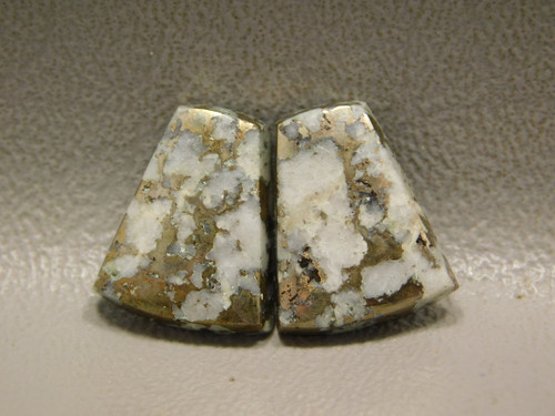 Mohawkite Small Matched Pair Semiprecious Stone Cabochons #6
